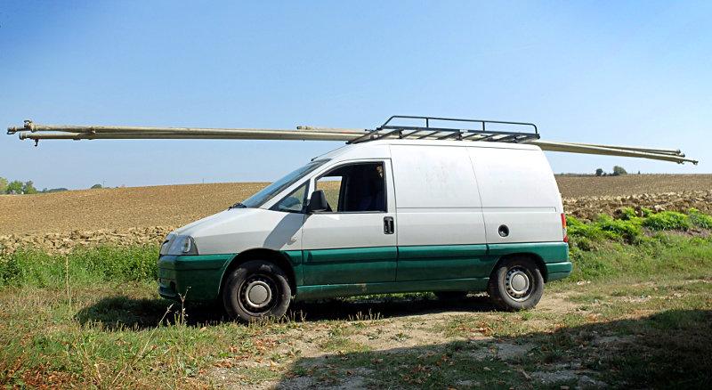 Transport d'irrigation en maraîchage biologique - Ferme de Videau