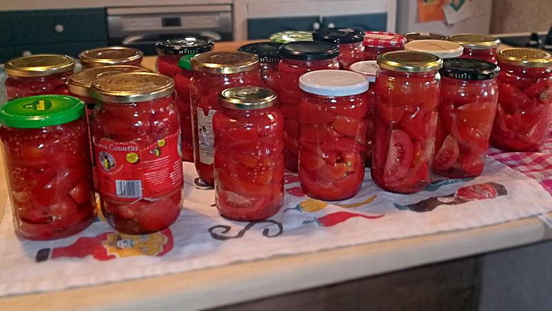 Tomates en conserve - Ferme de Videau