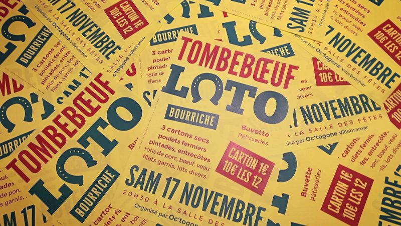Affiche loto Tombebœuf 2018 - Ferme de Videau