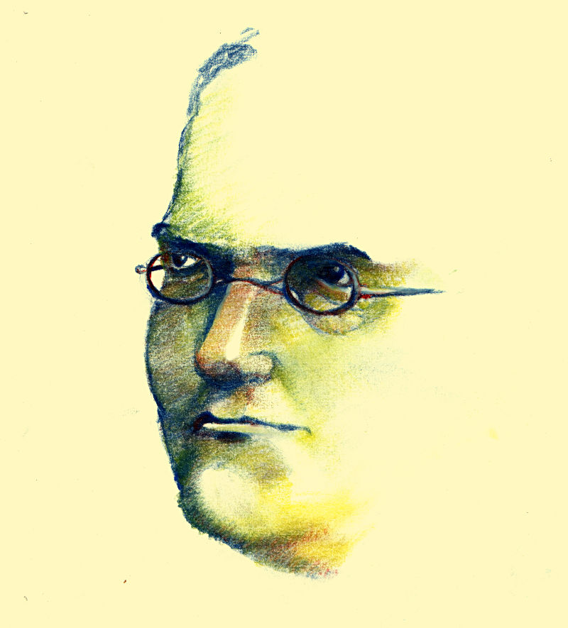 Gregor Mendel dessin Pierre Pernix - Ferme de Videau